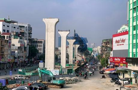 Tiến độ thần tốc dự án đường trên cao 9.500 tỷ của Vingroup