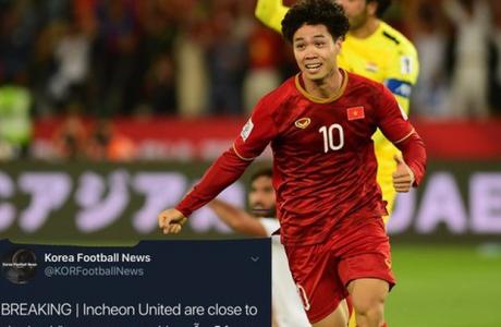 Báo Hàn Quốc: Công Phượng đạt thỏa thuận khoác áo Incheon United ở mùa giải 2019