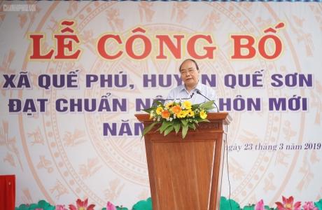 Thủ tướng Chính phủ dự Lễ đón nhận danh hiệu xã nông thôn mới tại Quảng Nam