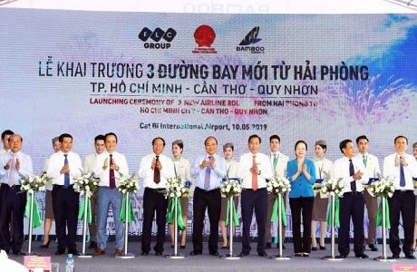 Thủ tướng cắt băng khai trương 3 đường bay mới của Bamboo Airways