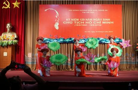 Hội đồng hương huyện Nam Đàn tỉnh Nghệ An tại Hà Nội kỷ niệm 129 năm ngày sinh nhật Bác