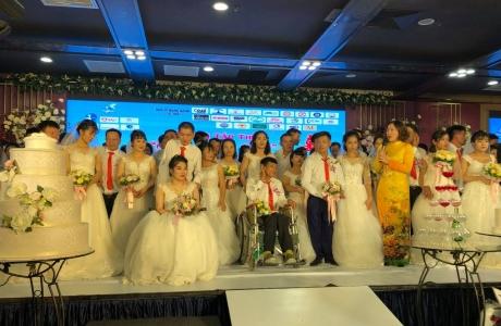 Hà Nội: Xúc động đám cưới tập thể cho 65 cặp đôi khuyết tật
