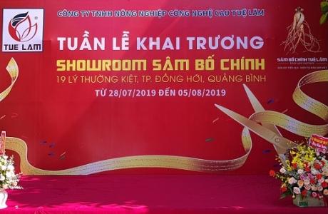 """Quảng Bình: Khai trương Showroom """"Sâm Bố Chính - Nhân Sâm Việt"""" đầu tiên tại Việt Nam."""