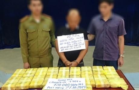 Hà Tĩnh : Bắt đối tượng vận chuyển 120.000 viên ma túy tổng hợp từ Lào về Việt Nam