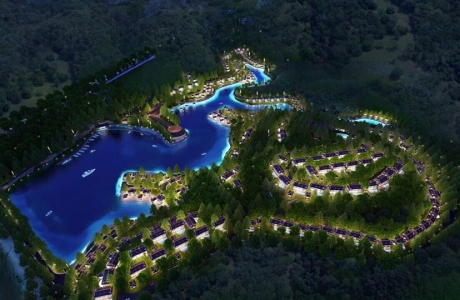 Hòa Bình: Khu du lịch nghỉ dưỡng Hồ Dụ ngang nhiên xây dựng không phép
