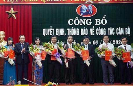 Quảng Bình: Quyết định điều động và bổ nhiệm cho 13 cán bộ