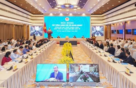 Chùm ảnh: Hội nghị Thủ tướng Chính phủ với doanh nghiệp