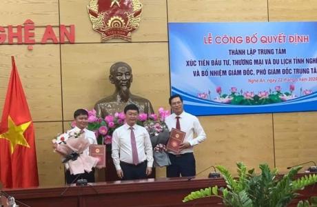 Công bố Quyết định thành lập Trung tâm Xúc tiến Đầu tư, Thương mại và Du lịch tỉnh Nghệ An