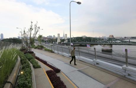 Thái Lan biến đường sắt trên cao bỏ hoang thành công viên