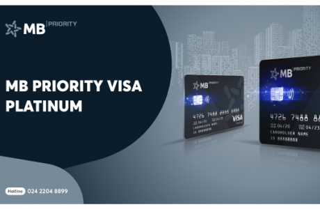 Ra mắt thẻ tín dụng quốc tế MB Priority Visa Platinum
