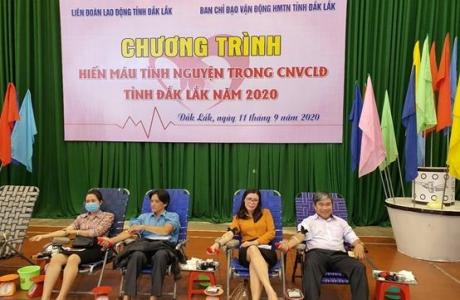 Đắk Lắk:  Gần 1000 cán bộ công chức, viên chức và người lao động tham gia hiến máu tình nguyện năm 2020