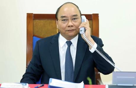 Thủ tướng Nguyễn Xuân Phúc điện đàm với Thủ tướng Đức