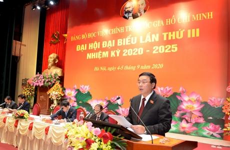Đồng chí Nguyễn Xuân Thắng tái đắc cử Bí thư Đảng ủy Học viện Chính trị Quốc gia Hồ Chí Minh