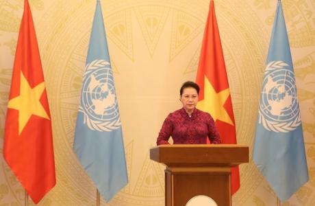 Chủ tịch Quốc hội gửi thông điệp tới phiên cấp cao kỷ niệm 25 năm Hội nghị Thế giới về phụ nữ
