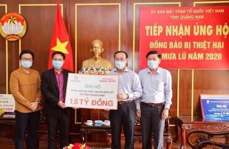 Hưng Thịnh ủng hộ 3 tỷ đồng, giúp người dân Quảng Nam và Quảng Ngãi bị thiệt hại do bão số 9