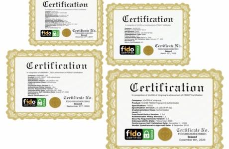 Khoá xác thực mạnh sinh trắc học của Vingroup được cấp chứng chỉ FIDO2