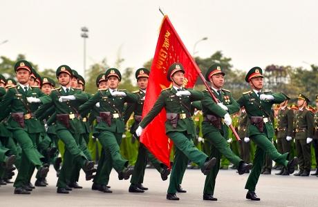 Lễ xuất quân diễn tập phương án bảo vệ Đại hội Đảng lần thứ XIII