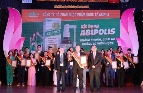 Xịt họng Abipolis vinh dự nhận Giải thưởng Sản phẩm Vàng vì sức khỏe cộng đồng