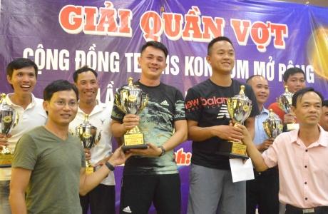 Gia Lai, Đak Lak đoạt Cúp vô địch Giải tennis tỉnh Kon Tum mở rộng