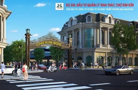 Chợ Kim Sơn - Quế Phong: Đã hoàn thành hơn 80% tiến độ công việc