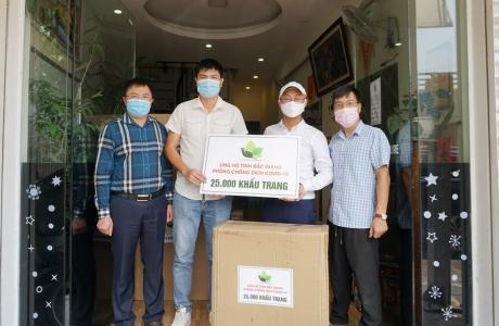 Quỹ Gieo mầm Xanh hạnh phúc ủng hộ vùng dịch Bắc Giang 25.000 khẩu trang y tế