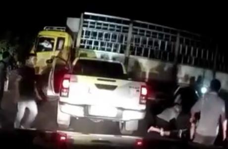 Cảnh sát nổ súng trong đêm vây bắt hai đối tượng vận chuyển ma túy
