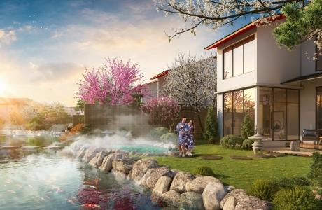 """Biệt thự khoáng nóng Yoko Villas """"đậm vị"""" Nhật Bản, nâng cao sức khỏe"""