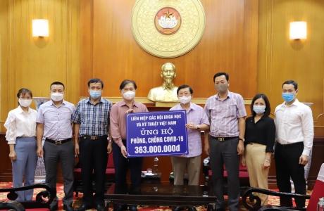 Liên hiệp các hội Khoa học và Kỹ thuật Việt Nam ủng hộ phòng chống dịch Covid-19