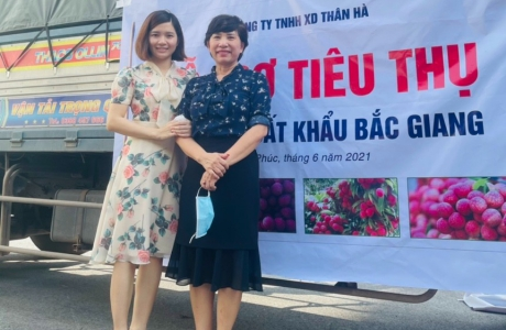 Hội Doanh nghiệp Thành phố Phúc Yên hỗ trợ mua vải thiều giúp nông dân Bắc Giang
