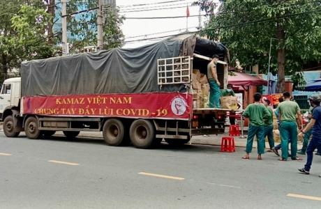 """""""Đoàn xe vận chuyển 0 đồng"""" mang nghĩa tình Lâm Đồng hướng về tâm dịch TP.HCM"""