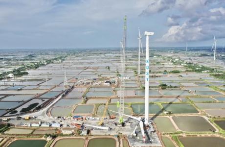 Nhà máy Điện gió Kosy Bạc Liêu: Tăng tốc về đích, đảm bảo phòng chống dịch Covid-19