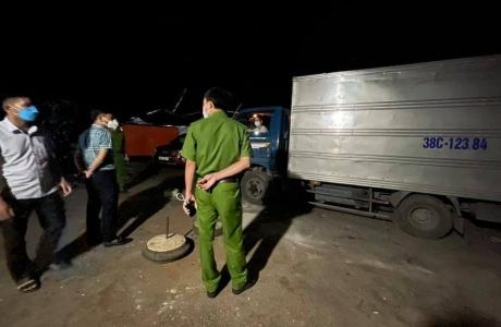 Vi phạm phòng chống dịch 2 ô tô chở hàng về Hương Sơn bị phạt 15 triệu đồng