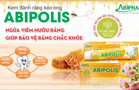 Kem đánh răng keo ong Abipolis giúp bảo vệ răng chắc khỏe