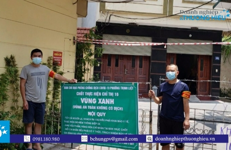 """UBND phường Thịnh Liệt cùng nhân dân đồng lòng thiết lập """"Vùng xanh"""" nâng cao tinh thần phòng chống Covid – 19"""