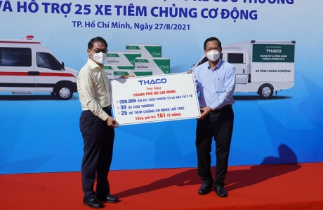 Tập đoàn THACO tài trợ gần 800 tỉ đồng cùng cả nước chống dịch