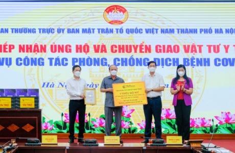 T&T Group trao tặng 1 triệu bộ kit xét nghiệm PCR Covid - 19 trị giá 162 tỷ đồng hỗ trợ thành phố Hà Nội chống dịch