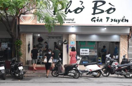 Một số quận, huyện tại Hà Nội được mở lại cơ sở dịch vụ ăn uống mang về