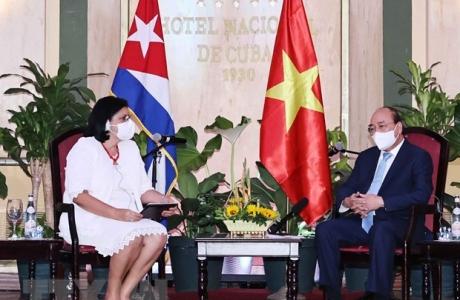 Chủ tịch nước tiếp lãnh đạo các tổ chức hữu nghị Cuba - Việt Nam