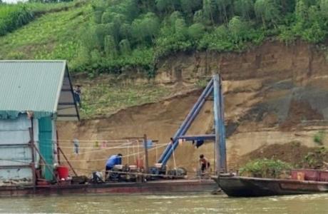 Sơn Dương - Tuyên Quang: Cát tặc 'tung hoành', đất nông nghiệp trôi sông