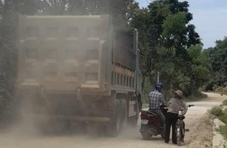 Vĩnh Lộc - Thanh Hóa: Bụi trắng trời từ dự án tận thu khoáng sản gây ô nhiễm môi trường