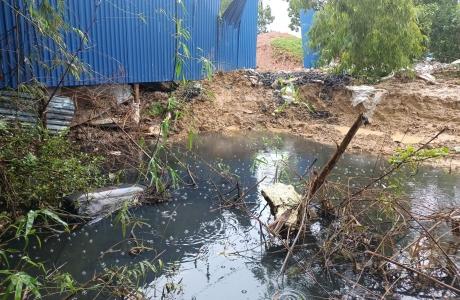 Cận cảnh khu đất sử dụng sai mục đích gây ô nhiễm môi trường