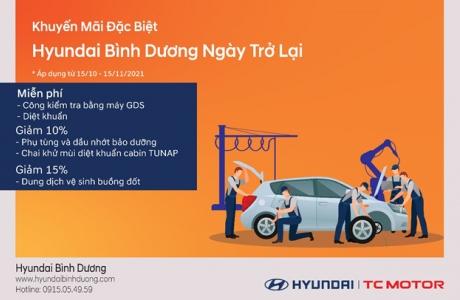 Hyundai Bình Dương ngày trở lại - Nhiều chương trình hấp dẫn